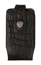 Ariat Black Croc Print with Chocolate Trim Small Cell Phone Case
