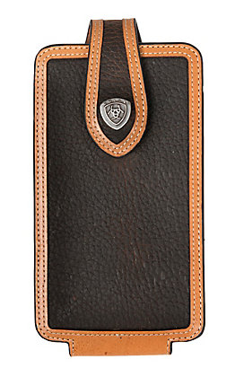 Ariat Rowdy Brown with Tan Trim Large Cell Phone Case