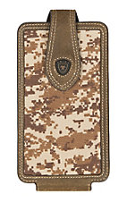 Ariat Tan Digi-Camo Print Large Cell Phone Case