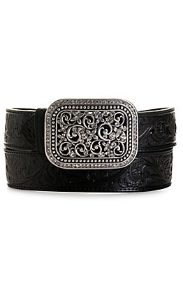Ariat Women's Black Rhinestone Filigree Belt