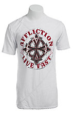 Affliction Men's White Royal Chromatic Logo Tee