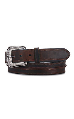 Ariat Men's Rowdy Brown Center Cord Western Belt