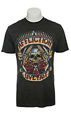 Affliction Men's Black Hollow Point with Taping T-Shirt