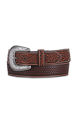 Ariat Men's Classic Basketweave Embroidered Western Belt