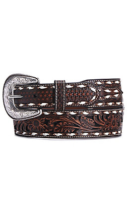 Ariat Men's Taper Floral Genuine Leather Western Belt
