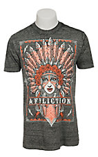Affliction Men's Heather Grey Tribes T-Shirt