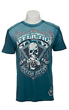 Affliction Men's Blue Death Eater Crew Neck T-Shirt