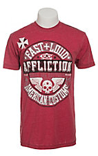Affliction Men's Red Volume T-Shirt