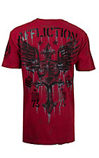 Affliction Men's Dirty Red Wash Return T-Shirt