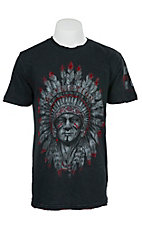 Affliction Men's Black Lava Wash Wabash T-Shirt