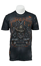 Affliction Men's Black Charcoal Brush Wash Outback T-Shirt