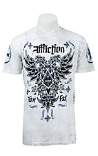 Affliction Men's White Reactive Wash Atol T-Shirt