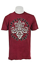 Affliction Men's Red Royal Lord Short Sleeve Reversible Tee