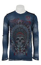 Affliction Men's Navy AC Apache Long Sleeve Thermal