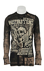 Affliction Men's Tobacco Brown Destroyers Reversible Long Sleeve Thermal