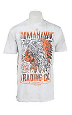 Affliction Men's White Tomahawk Trading Short Sleeve Tee