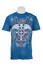 Affliction Men's Cobalt Blue Higher Cast Short Sleeve T-Shirt