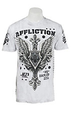 Affliction Men's White Freedom Fight T-Shirt