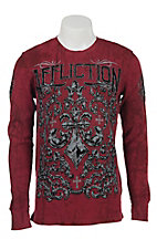 Affliction Men's Red Integrate Long Sleeve Thermal