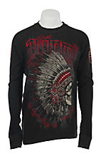 Affliction Men's Black/Charcoal Peace Pipe Long Sleeve Reversible Thermal