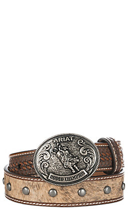 Ariat Boys' Studded Bullrider Western Belt