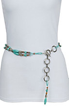 Ariat Women's Turquoise Beaded Chain Belt A1517236