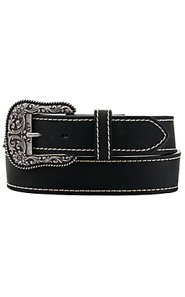 Ariat Women's Solid Black with Heavy Stitch Western Belt