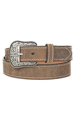 Ariat Women's Brown with Heavy Stitching and Limited Edition Buckle Belt