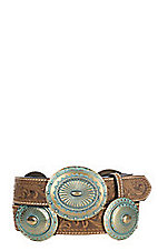 Ariat Women's Turquoise Concho Scroll Tooled Belt