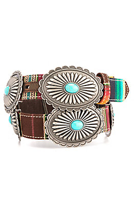 Ariat Women's Serape with Silver & Turquoise Conchos Belt