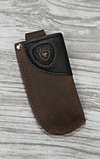 Ariat Dark Brown with Black Leather Knife Sheath