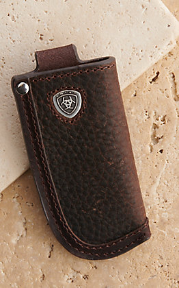 Ariat Classic Dark Brown Leather Knife Sheath