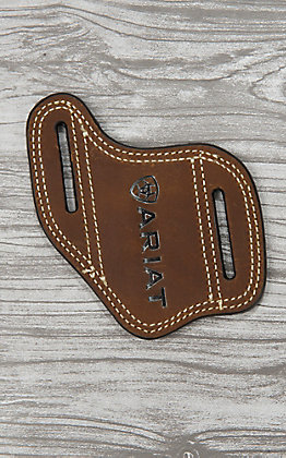Ariat Brown Leather with Embossed Logo Knife Sheath
