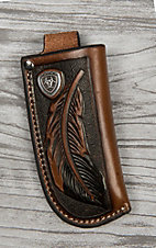Ariat Brown Leather Tool Cross Knife Sheath