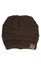 C.C. Beanies Women's Chocolate Ribbed Knit Beanie