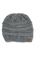 C.C. Beanies Women's Light Grey Ribbed Knit Beanie
