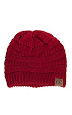 C.C. Beanies Women's Red Ribbed Knit Beanie