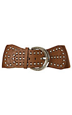 3-D Belt Company Angel Ranch Brown with Rhinestones High Waist Belt
