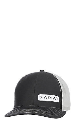 Ariat Men's Black Offset Small Patch Cap