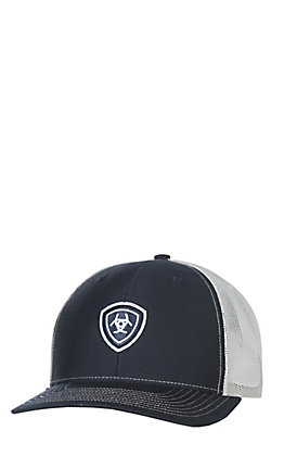 Ariat Navy Center Embroidered Shield Logo Cap