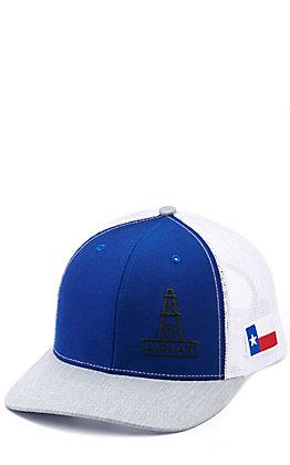 Ariat Blue and Grey Texas Oil Mesh Back Cap