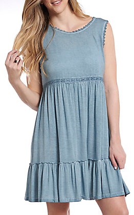 UMGEE Women's Denim Sleeveless Casual Dress