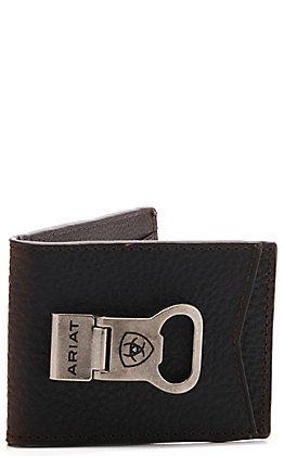 Ariat Men's Bi-Fold Money Clip Wallet