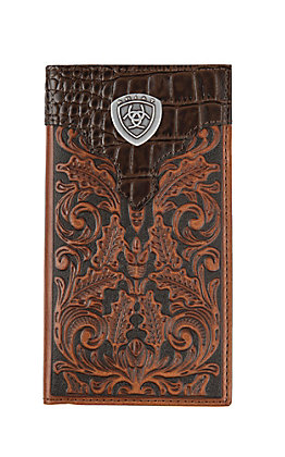 Ariat Gator Floral Rodeo Wallet / Checkbook Cover