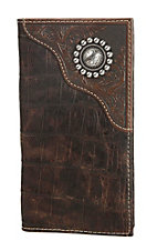 Ariat Brown Rodeo Wallet / Checkbook Cover