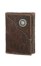 Ariat Brown Tri Fold Wallet