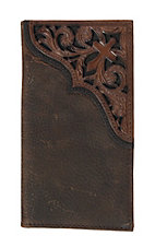 Ariat Rodeo Wallet/ Checkbook Cover w/ Scroll Cross Emboss