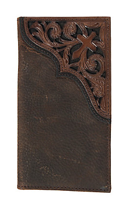 Ariat Rodeo Wallet/ Checkbook Cover with Scroll Cross Emboss