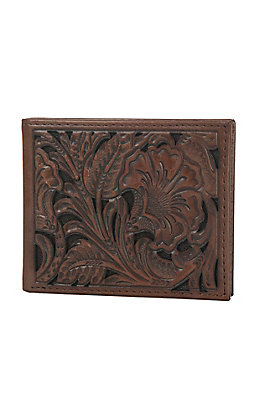 Ariat Brown Floral Embossed Bi-Fold Wallet