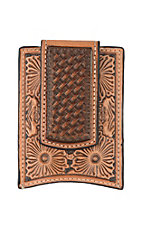 Ariat Tan Embossed Money Clip